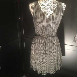 Black and white patterned summer dress
